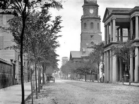 Church Street in Charleston, South Carolina as it was 100 years ago