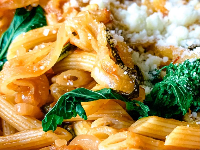close up photo of Pasta cui Vruccoli Ariminata