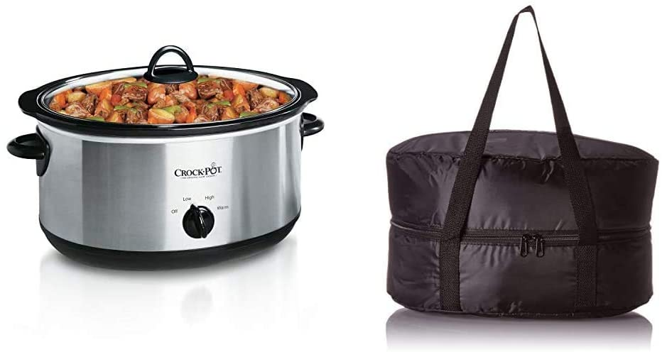 crock pot with carrying bag