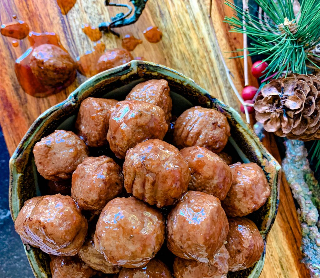 classic muscadine cocktail meatballs