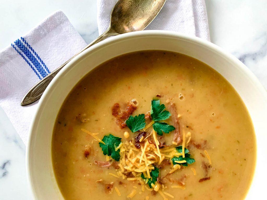 creamy plantation potato and ham soup