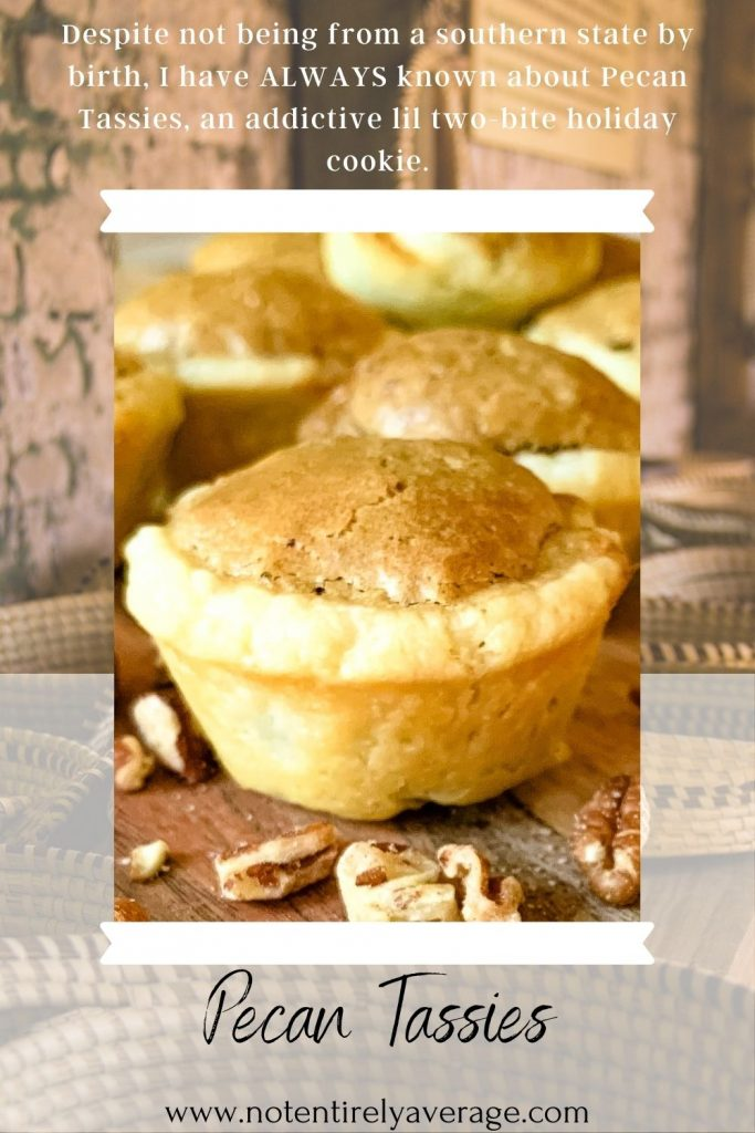 Pinterest pin image for Pecan Tassies