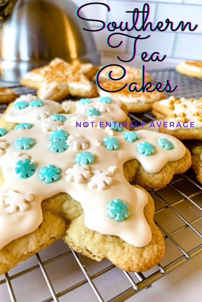 Pinterest pin image for Southern Tea Cakes recipe