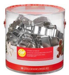 bin of assorted cookie cutters