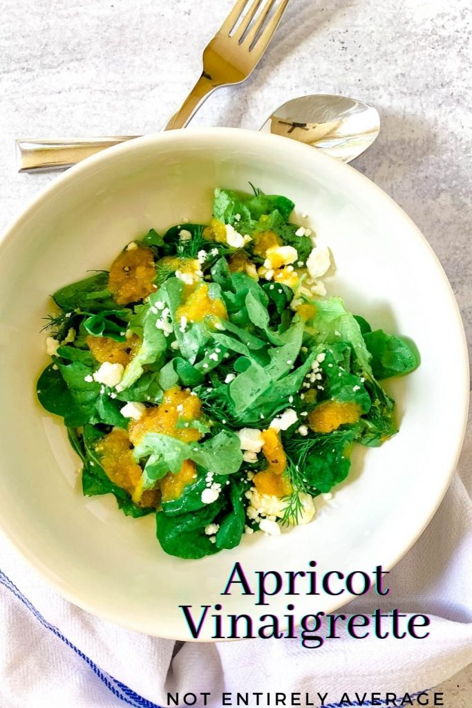Pinterest pin image for Apricot Vinaigrette