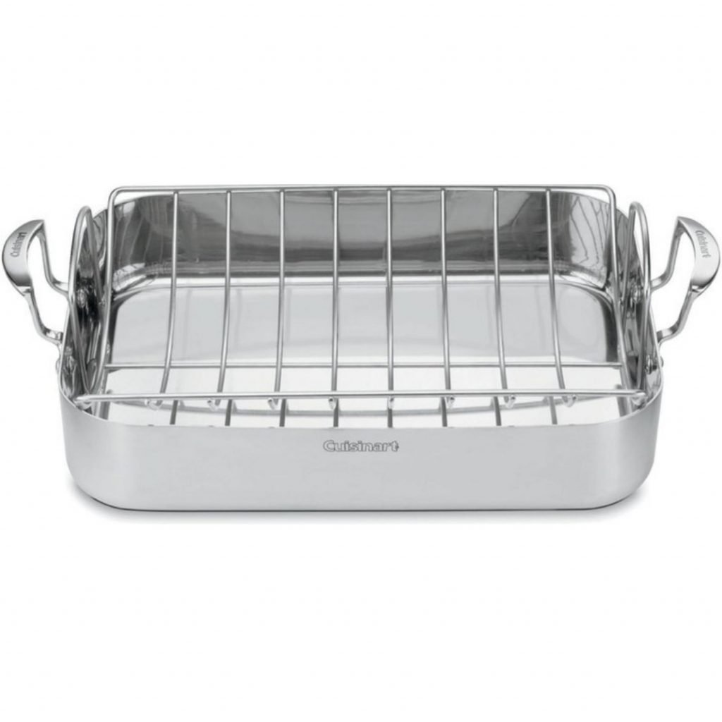 roasting pan with meat rack