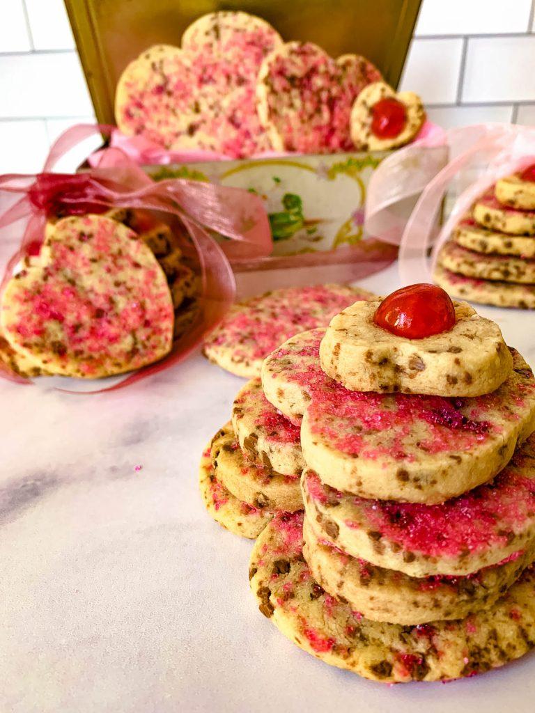 cookies in stacks