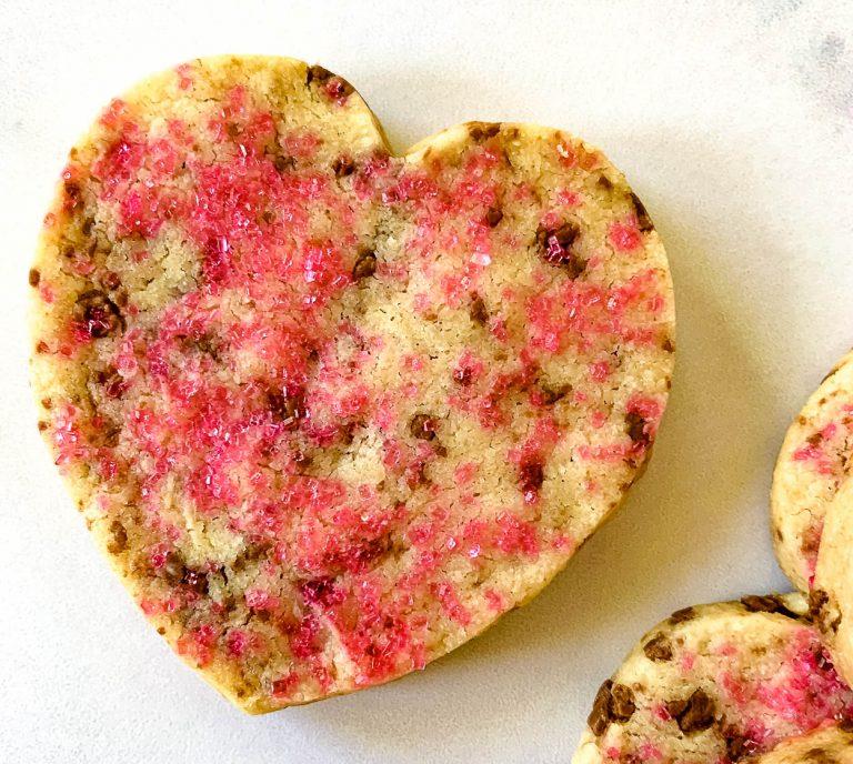 heart shortbread cookie