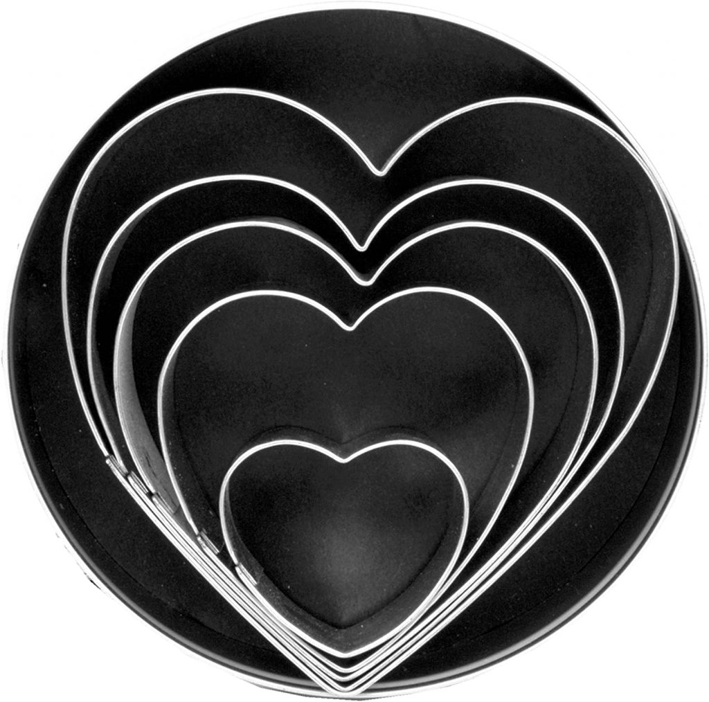 heart cookie cutters set 5