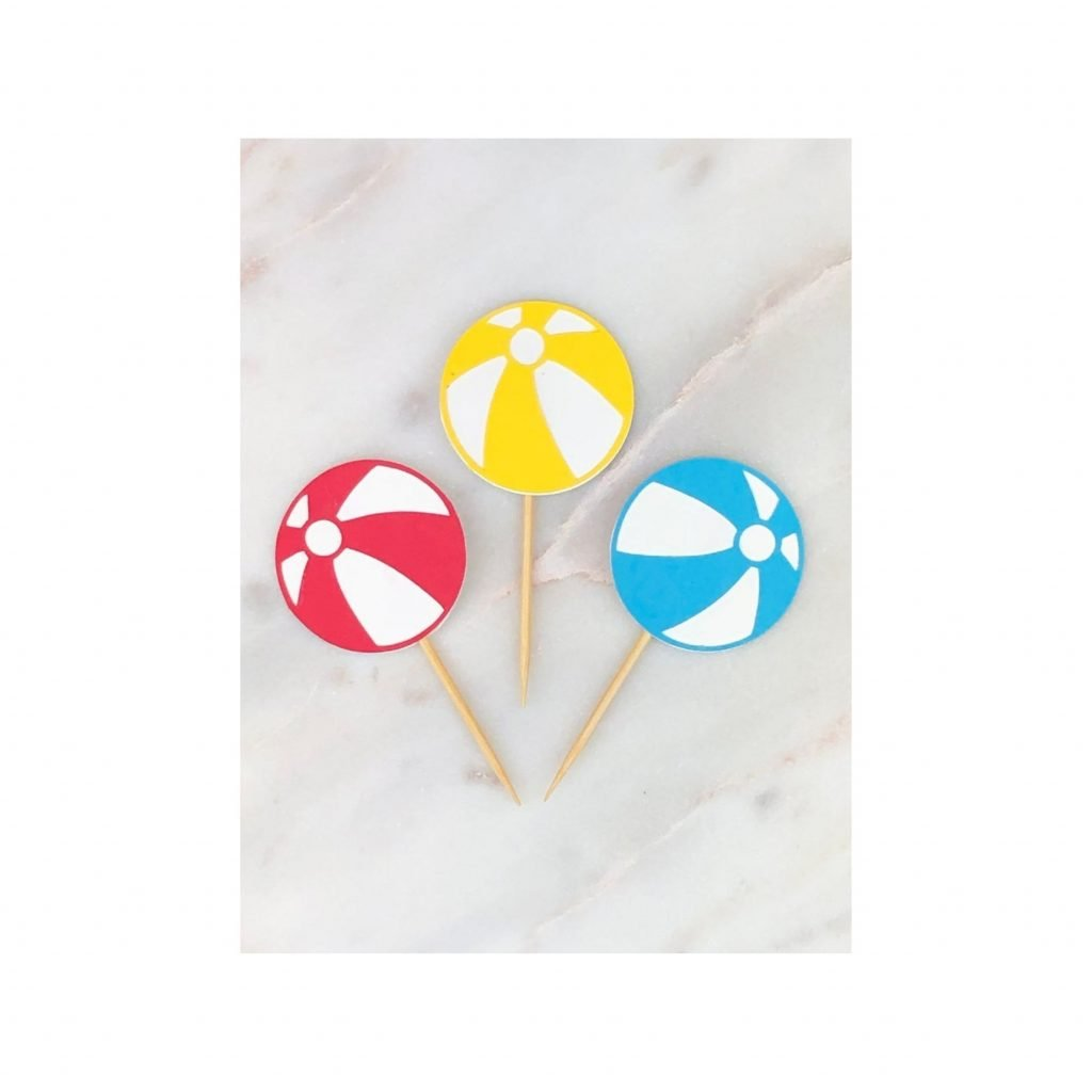 beach ball swizzle sticks