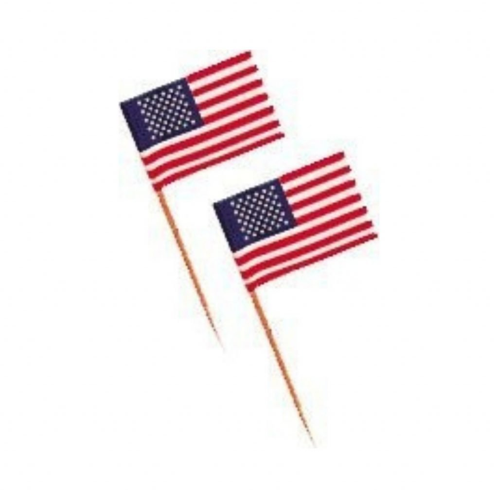American flag swizzle sticks