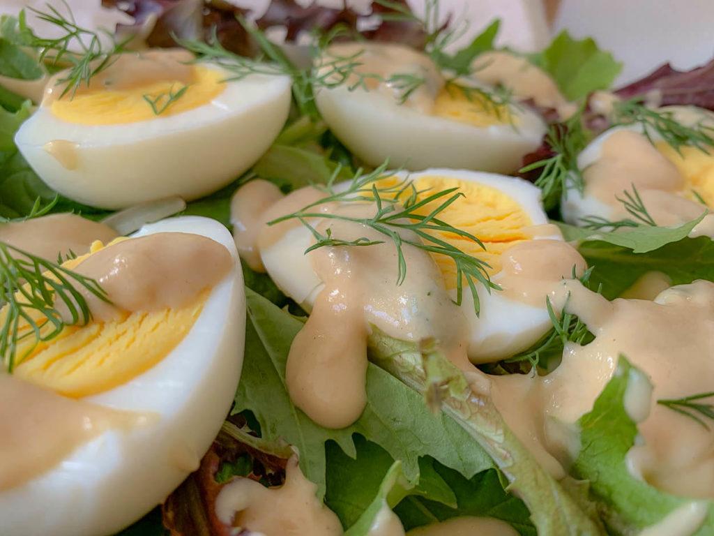 Buttery Springtime Eggs In A Splendid Silky Mustard Velouté
