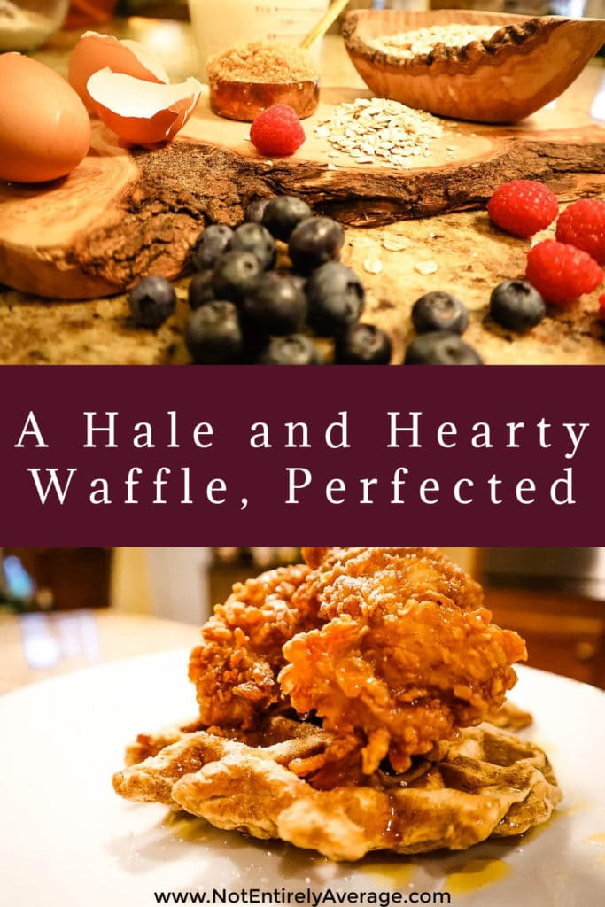 Pinterest pin image for a Hale And Hearty Waffle