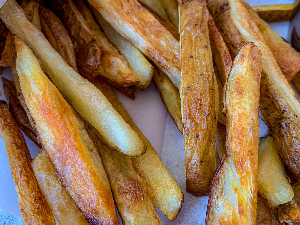 close up photo of Crispy Oven Fries