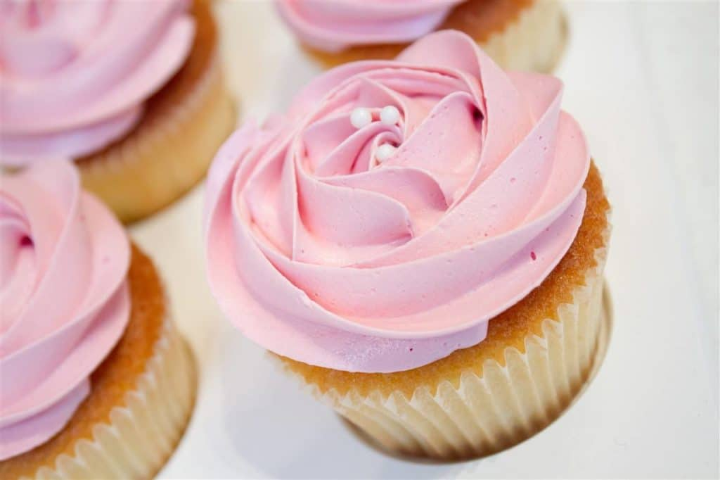 a rose-infused cupcake