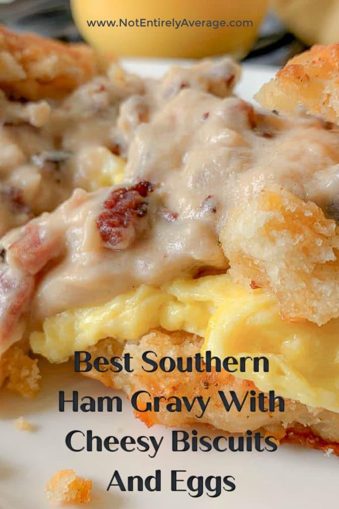 Pinterest pin image for ham gravy