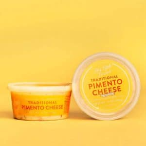 tub of pimento cheese