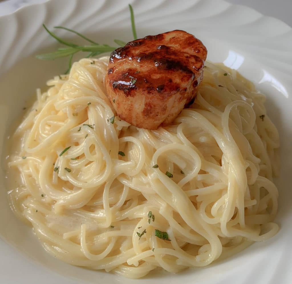 Pasta Rosemary Beurre Blanc And Bronzed Sea Scallop