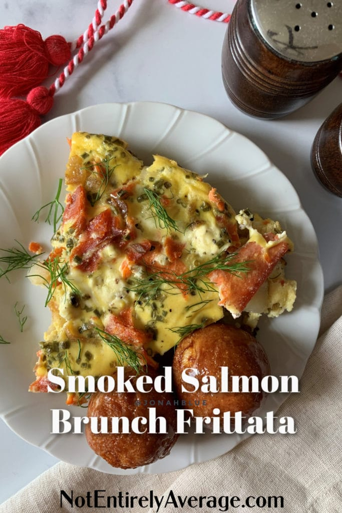 Pinterest pin image for Smoked Salmon Brunch Frittata