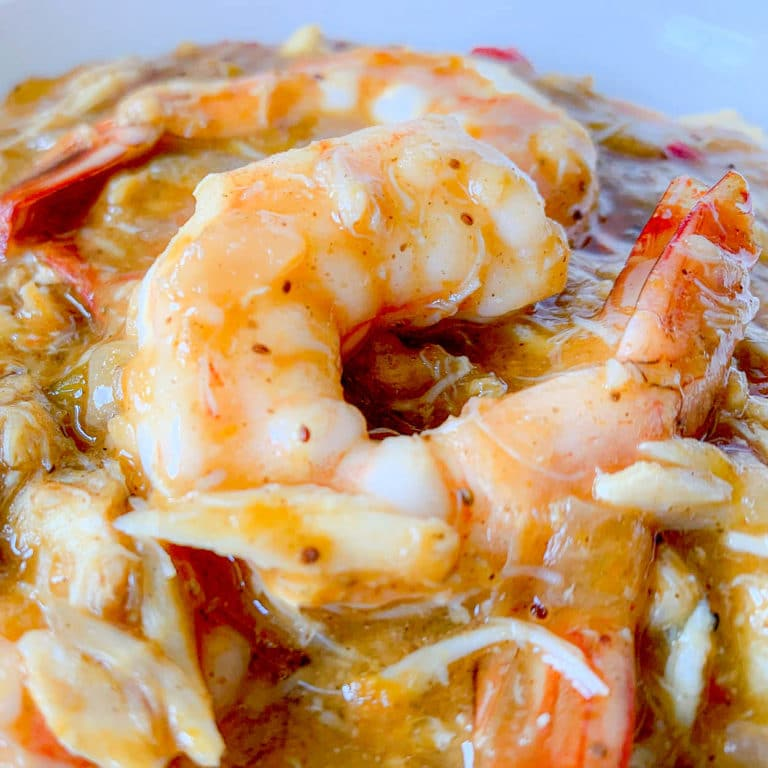 Charleston Shrimp And Grits With Crab Gravy