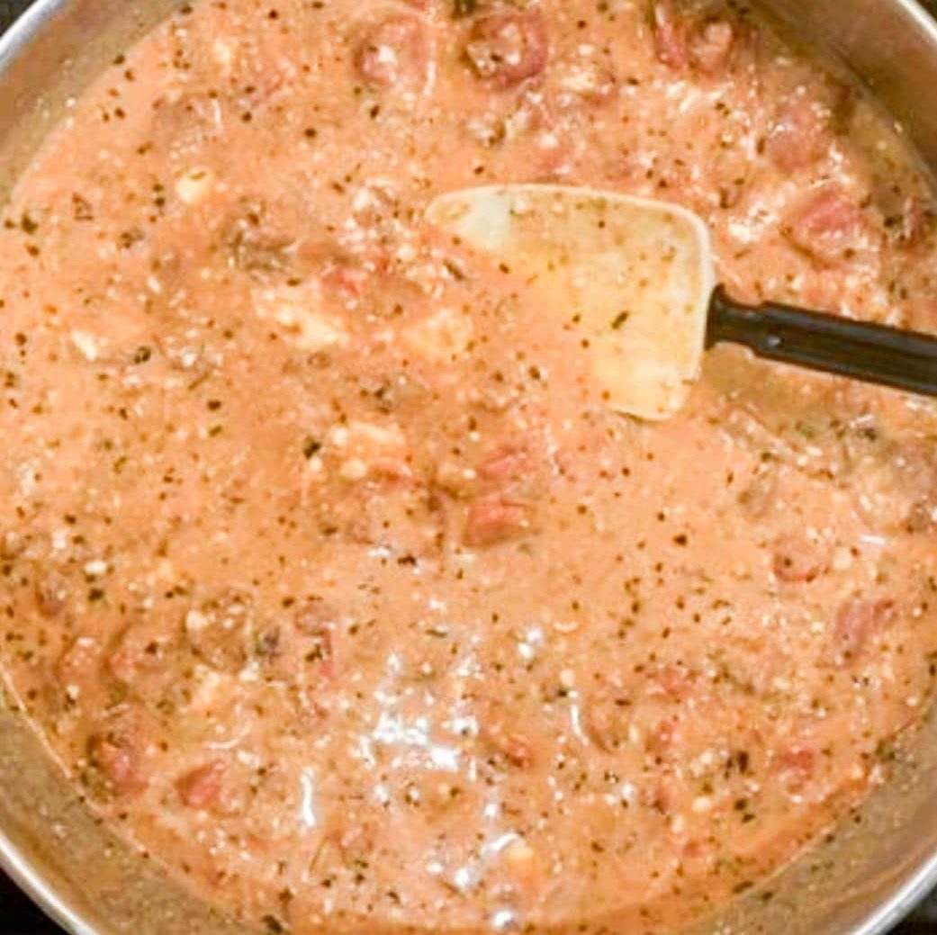 sauce in a skillet