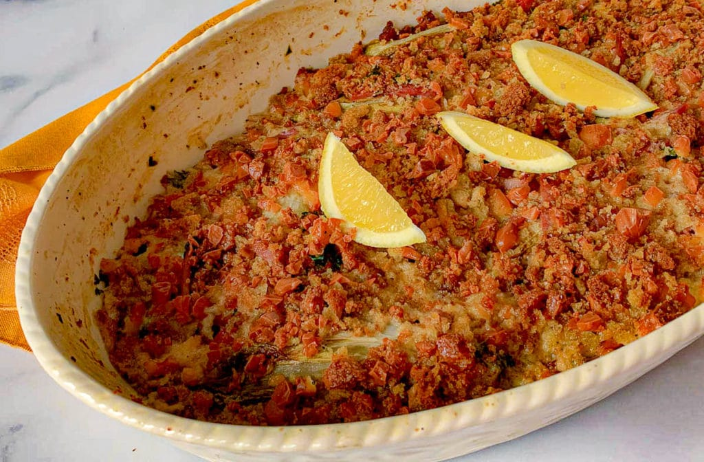 casserole of Endive Gratin With Ham and Smoked Gruyere
