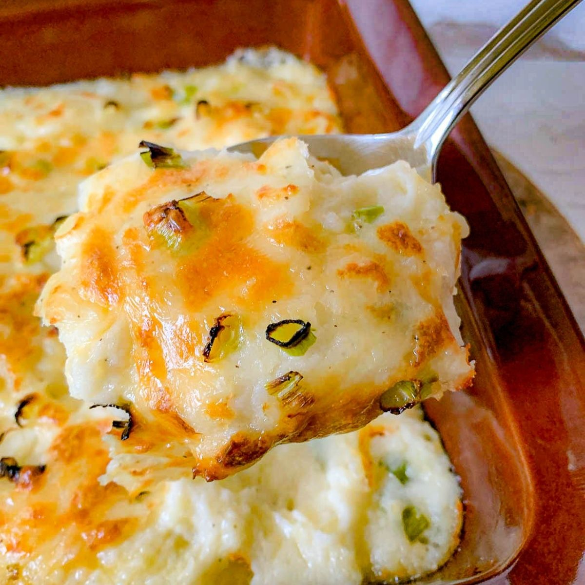 featured image for Cheesy Mashed Potatoes Casserole