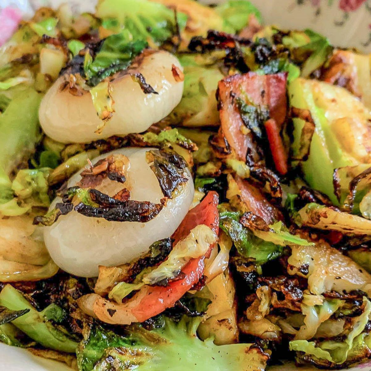 featured image for Maple Bacon Brussels Sprouts