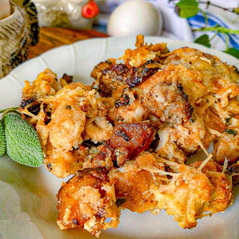 featured image for savory breakfast bread pudding recipe