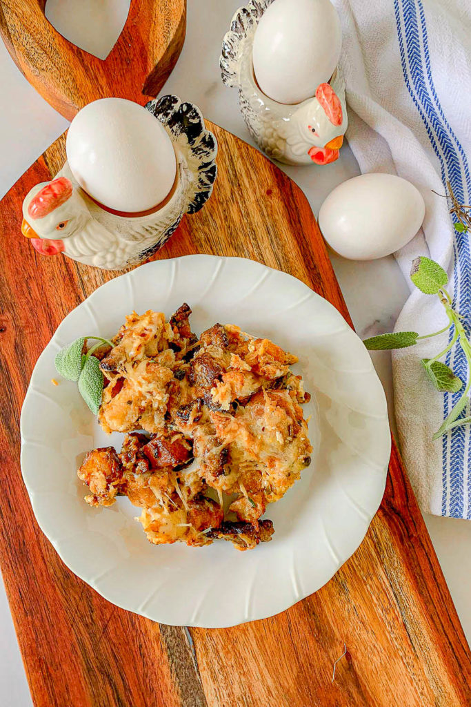 Savory Bread Pudding with sausage