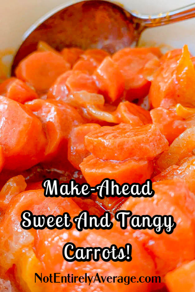 Pinterest pin image for Sweet And Tangy Carrots